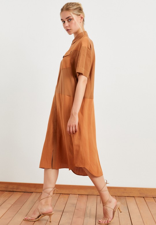 Cepli Gömlek Elbise