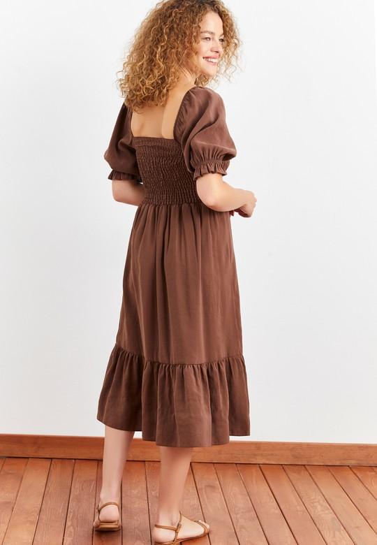 Gipeli Kare Yaka Elbise