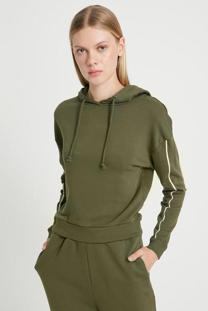 Kapüşonlu Crop Sweatshirt